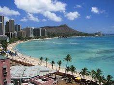 Waikiki Beach, Oahu, Hawaii - absolutely beautiful and I really want to go back!!  :)