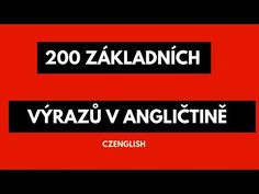 200 základních výrazů v angličtině - Poslouchejte a učte se - YouTube English Language, Teaching, Education, British, Top, English, School, Spinning Top, English People
