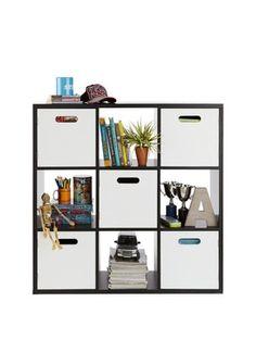 Kube 3 x 3 Shelf and Cupboard Storage Unit