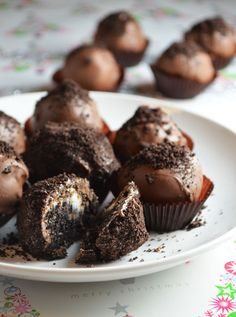 These are easy and delish! Oreo Truffles- just 3 ingredients!