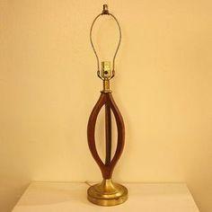 Mid-Century Teak Lamp III