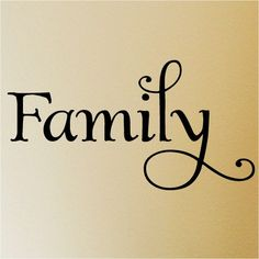 Family  12.5x23  vinyl lettering wall decal sticker art. $7.99, via Etsy.