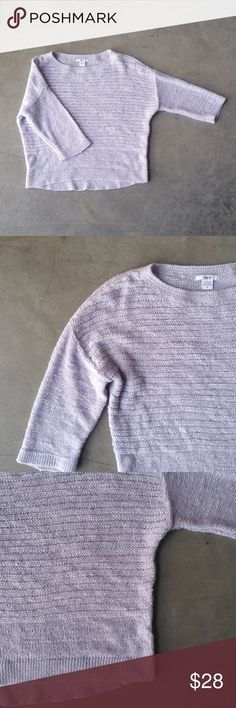 Bar III Lavender Knit 3/4 Sleeve Sweater Bar II brand sweater, size small, in excellent condition! Lovely pale/pastel lilac/lavender purple color. 3/4 sleeves, medium weight knit. No trades. No modeling. Make a reasonable offer. thanks! Bar III Sweaters Crew & Scoop Necks