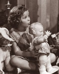 1938 Shirley Temple & a Cameo Scootles designed by Rose O'Neil