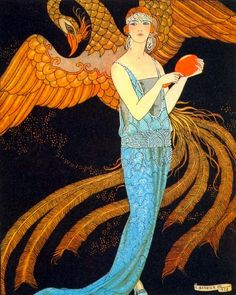 George Barbier (1882-1932) - French Art Deco Fashion Illustrator - Illustration from Gazette Du Bon Ton 1922