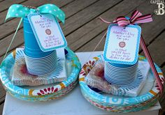 Capital B: Adorable 'Less Dishes' Mother's Day Gift; Could use these as a way for each girl to set a unique table for her family.