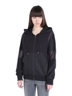 Diesel F-Unda-A Active Jacket terry and mesh mix