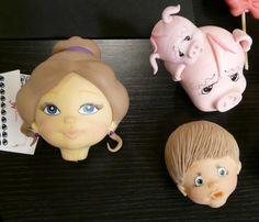 Modelado de caras en #porcelana fría#Webiscuit 2º parte