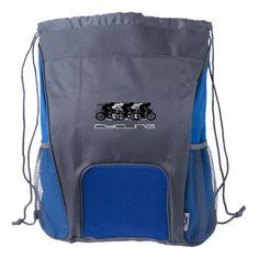 Cycling Design Drawstring Backpack
