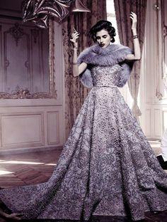"a-luxury-fantasy: ""Langley Fox Hemingway by Michel Comte for Vogue Alta Moda Sept 2014 """