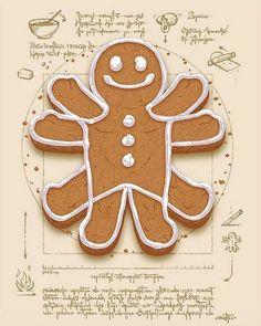 Vitruvian Gingerbread Man