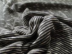 Slub Ponte Roma Jersey - Black & White