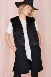 Women Winter Vest Jackets Faux Fur Woolen Stitching Black Fashion Casual Slim Long Wool Vest Jacket Coat Female New - Black, XXL Oh just take a look at this! Visit our store Wool Vest, Faux Fur Jacket, Vest Jacket, Patagonia Vest Outfit, Sleeveless Trench Coat, Chelsea Girls, Coats For Women, Clothes For Women, Winter Vest