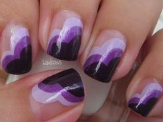 Nail Art - Wear Purple for Lupus - Decoracion de Uñas (Inspired by ChalkboardNails) - YouTube