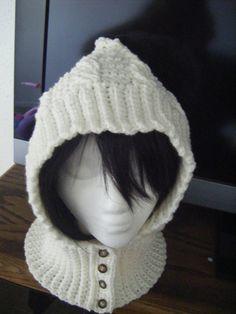 Cables de ganchillo capucha o patrón Scoodie sombrero bufanda por NatalieSpot