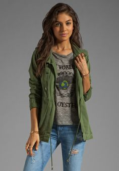 979daf9657388 PJK PATTERSON J. KINCAID x the man repeller Lost Boys Utility Jacket in  Cypress at