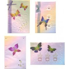 TC002 - Butterflies 2.  Four stunning butterfly patterns designed by Tina to enable you to create beautiful cards. http://www.cccollection.co.uk/original-parchment-craft-patterns-and-packs/tina-cox-pattern-packs/tc002--butterflies-2
