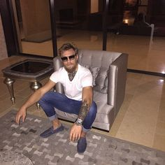 Conor McGregor chilling in his Las Vegas Mac Mansion : if you love #MMA, you'll love the #UFC & #MixedMartialArts inspired fashion at CageCult: http://cagecult.com/mma