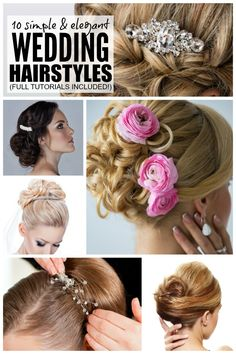 Whether you're the bride-to-be, maid of honor, or bridesmaid, chances are you want your hair to look good on the big day. Right? The only problem is that wedding hairstyles can cost an arm and a leg if you go to a salon, but thanks to this collection of 10 simple & elegant wedding hairstyles, you can look fabulous without taking out a second mortgage on your home. Full tutorials included!