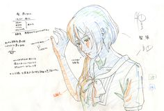 "Idiot area expanded!?, Makoto Shinkai's ""The Garden of Words"" genga vs..."