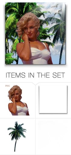 """Marilyn at the beach!"" by asia-12 ❤ liked on Polyvore featuring art"