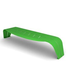cool sculptural bench by Jane Hamley Wells - FOGLIA LEAF Bench by CitySí