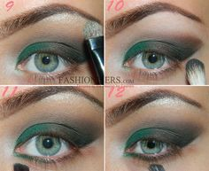 Emerald Green Smokey Eye Makeup Tutorial | Fashion Trends, Makeup Tutorials, Hairstyles and Style Secrets for Women
