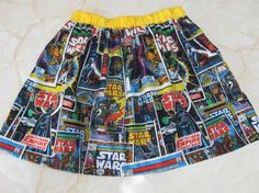 Star Wars Children's Skirt with a Yellow by GabrielaKathi on Etsy