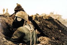 Iranian trench during the Iraqi invasion in the 1980s