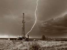 Drilling Rig in Midland Texas, Midland County by Robert Flaherty