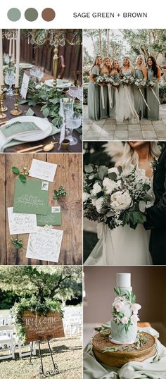 sage green and brown neutral wedding color ideas fall wedding corsage / fall wedding boutineers / fall wedding burgundy / wedding fall / wedding colors Beach Wedding Colors, Neutral Wedding Colors, Wedding Color Schemes, Wedding Flowers, Neutral Colors, Perfect Wedding, Our Wedding, Dream Wedding, Trendy Wedding