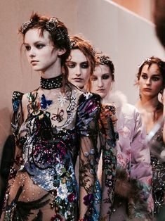 Backstage at Alexander McQueen Fall/Winter 2016 RTW during London Fashion Week. Photo by Evan Schreiber.