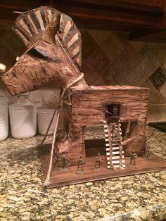 Paper Mache School Project: The Trojan Horse