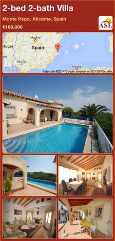 2-bed 2-bath Villa in Monte Pego, Alicante, Spain ►€189,000 #PropertyForSaleInSpain