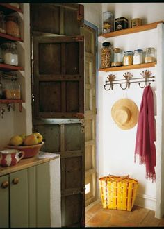 Idea baldas cocina, colgadores