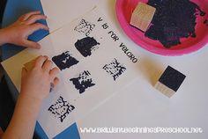 Letter Vv Velcro painting art