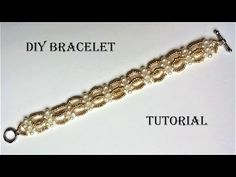 (21) DIY elegant beaded bracelet  - YouTube
