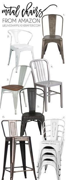 Industrial Farmhouse Fixer Upper Style Metal Chairs For your Home – - All About Decoration Industrial Dining, Vintage Industrial Furniture, Industrial Bedroom, Industrial Farmhouse, Industrial House, Unique Furniture, Modern Industrial, Industrial Apartment, Industrial Shelving