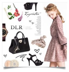 """DLRBOUTIQUE.COM"" by mahafromkailash ❤ liked on Polyvore featuring Kate Spade, Marc Jacobs, Jimmy Choo, Yves Saint Laurent, Bare Escentuals, By Terry and Valentino"