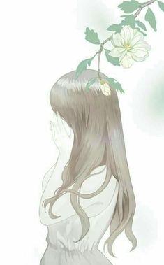 Girl with nature, art Amazing Drawings, Cute Drawings, Beautiful Anime Girl, Anime Love, Princesa Disney Aurora, Cover Wattpad, Wallpaper Fofos, Fanarts Anime, Korean Art