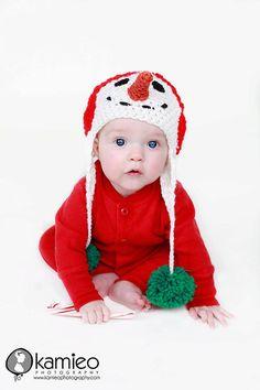 Snowman Crochet Hat  PDF PATTERN  Various Sizes by justbehappy, $4.50