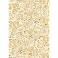 Marimekko Vuorilaakso Gold Sateen Fabric