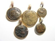 Ancient Coin Jewelry, pendants from Greek and Roman coins