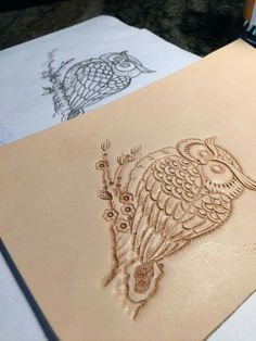 Leather Stamps, Leather Art, Leather Design, Leather Tooling Patterns, Leather Pattern, Leather Carving, Leather Diy Crafts, Leather Projects, Leather Workshop