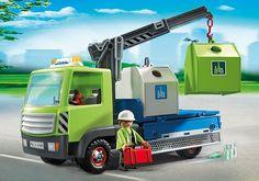 Camion avec grue et conteneurs à verre - 6109 - PLAYMOBIL® France