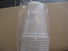 Disposable White Plastic Cups 180ml Coffee, Tea, Chocolade, Vending Machine... #VendingmachineCups