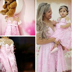 New Jordan Toddler Lace Cummunion Dresses Pink Cinderella Pageant Baby Party Frocks Special Mother Daughter Dress Gown 2017 Cheap Flower Girl Dresses, Frilly Dresses, Bride Dresses, Mommy And Me Outfits, Family Outfits, Baby Dress, Pink Dress, Kids Pageant Dresses, Party Dresses