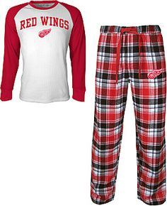 enlargeLARGER IMAGE            Concept Sports Detroit Red Wings Legend Thermal Shirt and Flannel Pants Set