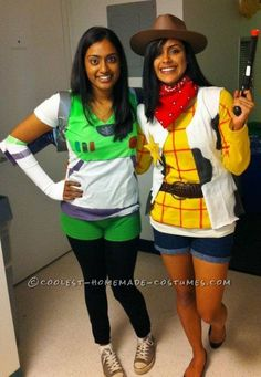 Homemade couple costume sexy buzz lightyear and woody homemade coolest woody and buzz costumes college edition solutioingenieria Images