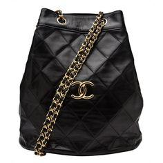 CHANEL VINTAGE Bucket shoulder bag ($2,000) found on Polyvore